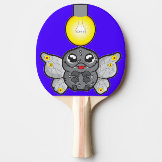 Ping Pong Paddle, Red Rubber Back with moth Ping-Pong Paddle
