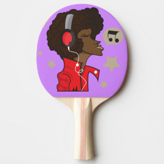 Ping Pong Paddle, Red Rubber Back with musician Ping Pong Paddle