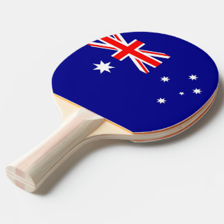 Ping pong paddle with Flag of Australia