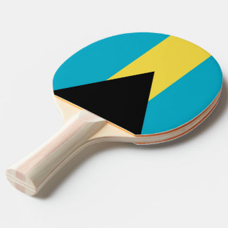 Ping pong paddle with Flag of Bahamas