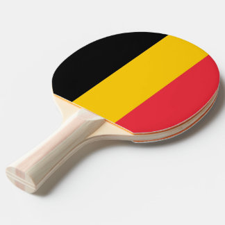 Ping pong paddle with Flag of Belgium