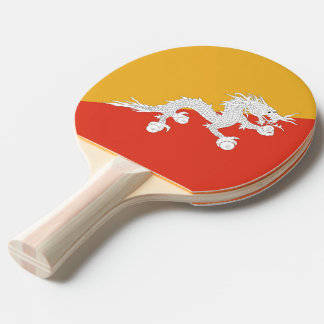 Ping pong paddle with Flag of Bhutan