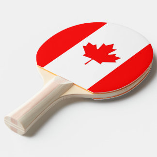 Ping pong paddle with Flag of Canada
