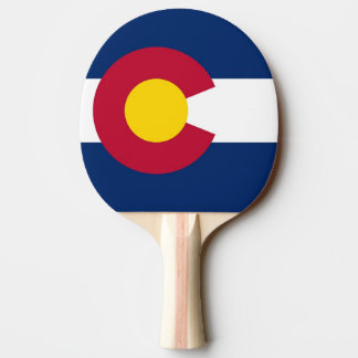 Ping pong paddle with Flag of Colorado State, USA