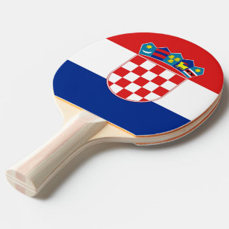 Ping pong paddle with Flag of Croatia