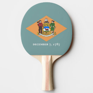 Ping pong paddle with Flag of Delaware, USA