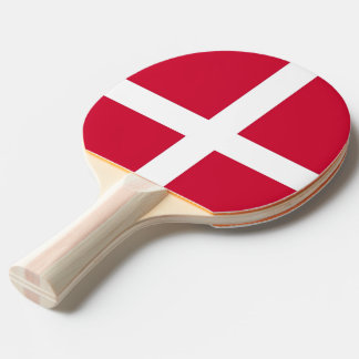 Ping pong paddle with Flag of Denmark