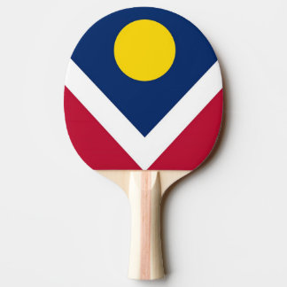 Ping pong paddle with Flag of Denver City, USA