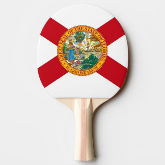 Ping pong paddle with Flag of Florida, USA