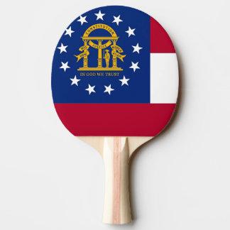 Ping pong paddle with Flag of Georgia, USA