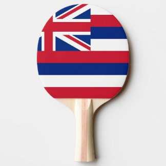 Ping pong paddle with Flag of Hawaii, USA