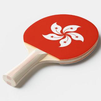 Ping pong paddle with Flag of Hong Kong