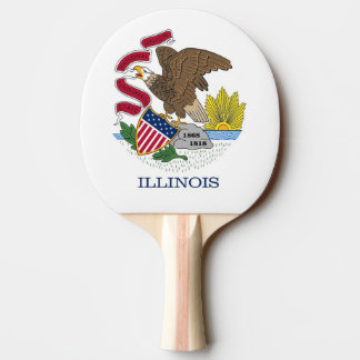 Ping pong paddle with Flag of Illinois, USA