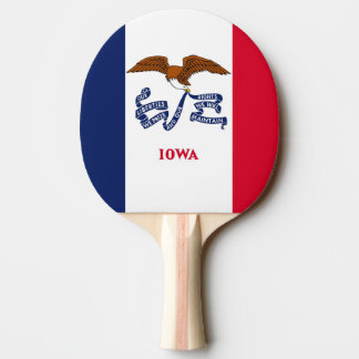 Ping pong paddle with Flag of Iowa, USA