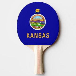 Ping pong paddle with Flag of Kansas, USA