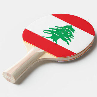 Ping pong paddle with Flag of Lebanon
