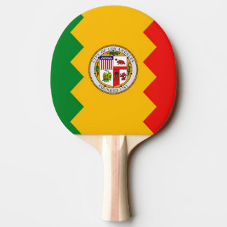 Ping pong paddle with Flag of Los Angeles, USA