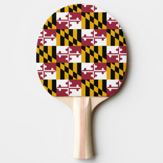 Ping pong paddle with Flag of Maryland, USA