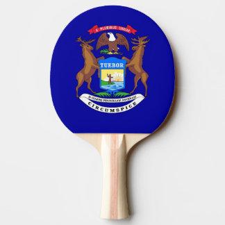 Ping pong paddle with Flag of Michigan, USA