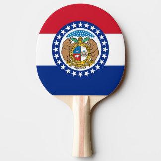 Ping pong paddle with Flag of Missouri, USA