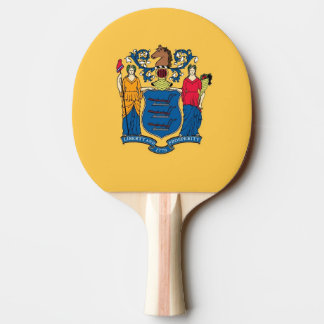 Ping pong paddle with Flag of New Jersey, USA