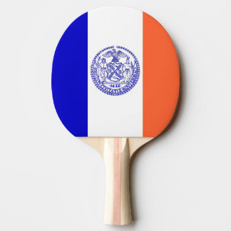 Ping pong paddle with Flag of New York City, USA