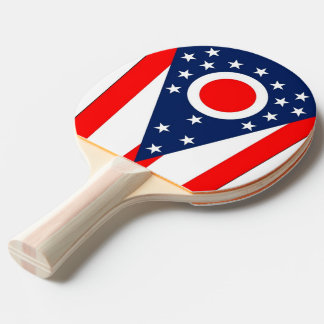 Ping pong paddle with Flag of Ohio State, USA