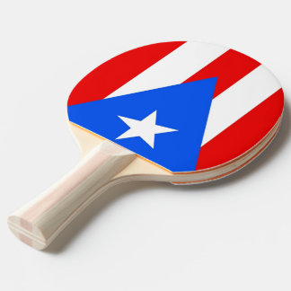 Ping pong paddle with Flag of Puerto Rico, USA