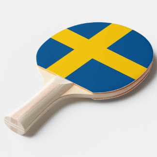 Ping pong paddle with Flag of Sweden
