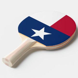 Ping pong paddle with Flag of Texas, USA