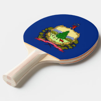 Ping pong paddle with Flag of Vermont, USA