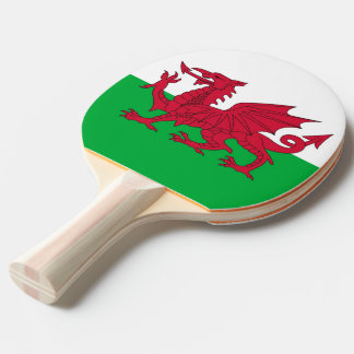 Ping pong paddle with Flag of Wales