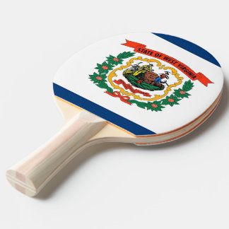 Ping pong paddle with Flag of West Virginia, USA