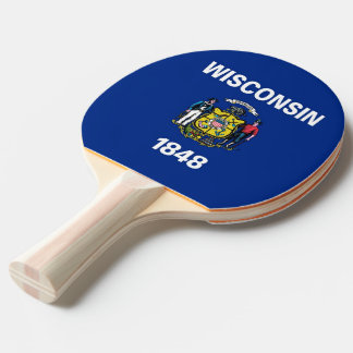 Ping pong paddle with Flag of Wisconsin, USA
