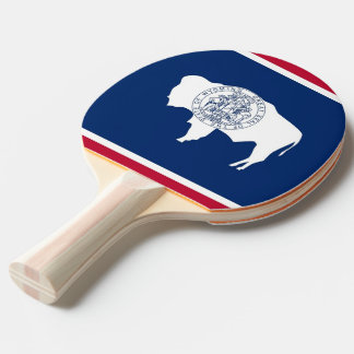Ping pong paddle with Flag of Wyoming, USA