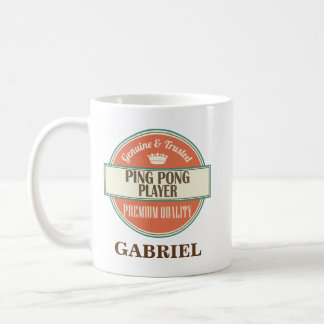 Ping Pong Player Personalized Office Mug Gift