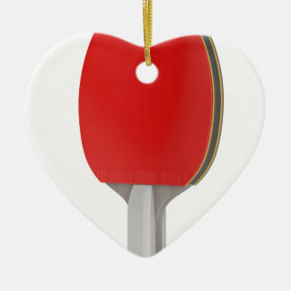 Ping pong racket ceramic ornament