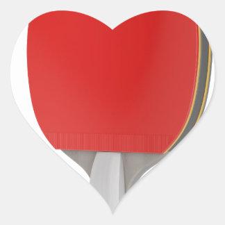 Ping pong racket heart sticker