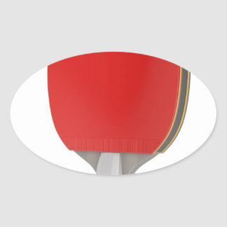 Ping pong racket oval sticker
