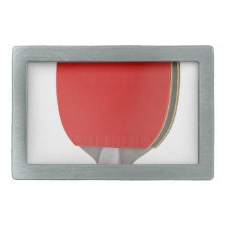 Ping pong racket rectangular belt buckle