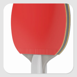 Ping pong racket square sticker