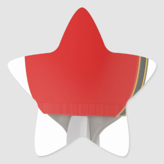 Ping pong racket star sticker