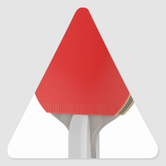 Ping pong racket triangle sticker
