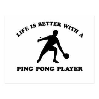 Ping Pong Vector Design Postcard