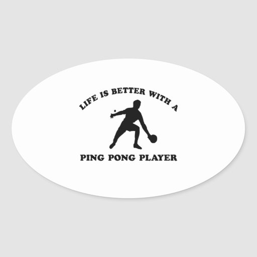 Ping Pong Vector Design Stickers