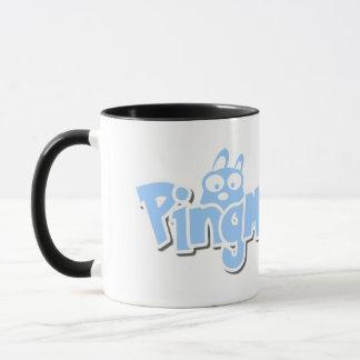 PingMyLinks 11 oz Combo Mug Cartoon Logo Style