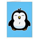 Pingouin de bébé de bande dessinée cartes de vœux