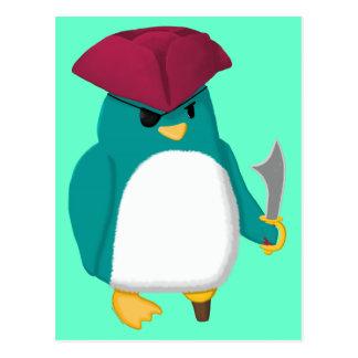 Pingouin de pirate cartes postales