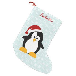 Pingouin drôle de vacances personnalisé petite chaussette de noël