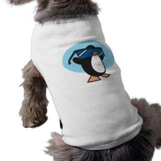 pingouin idiot avec de grandes lunettes de soleil tee-shirt pour toutou